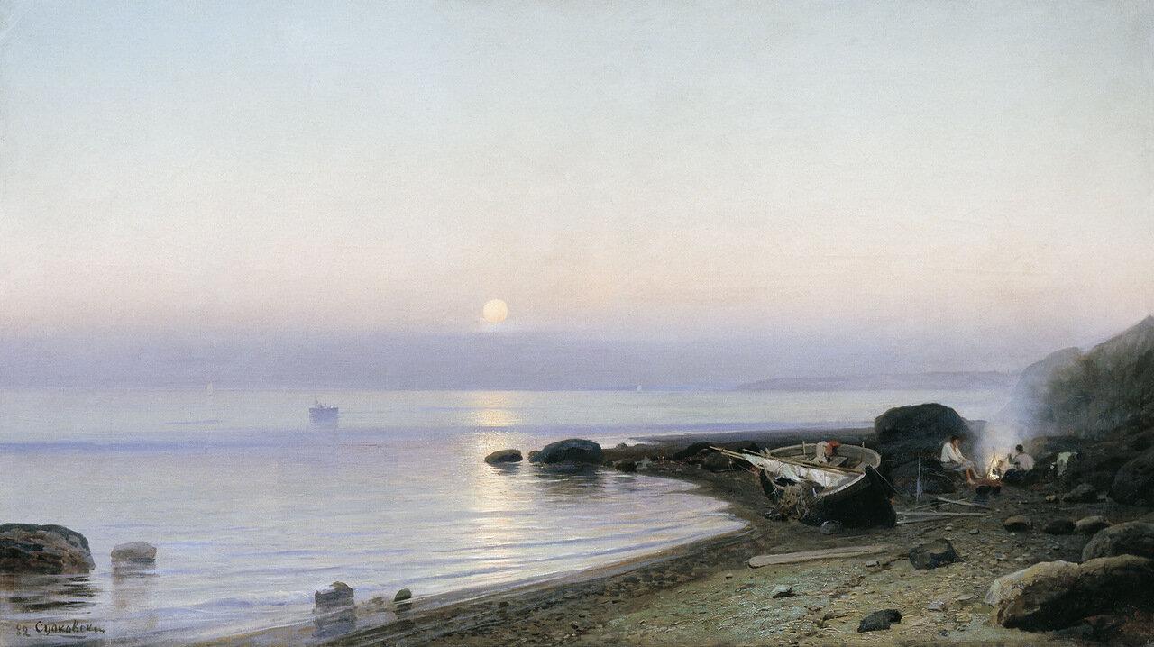 На берегу моря. 1882, холст, масло, 72х128 см.jpg