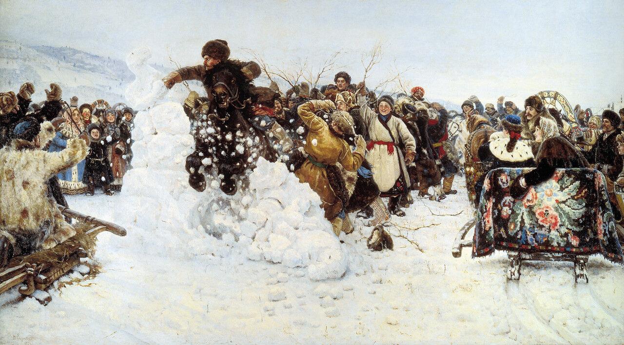 Взятие снежного городка. 1891. Холст, масло. 156х282 см.jpg