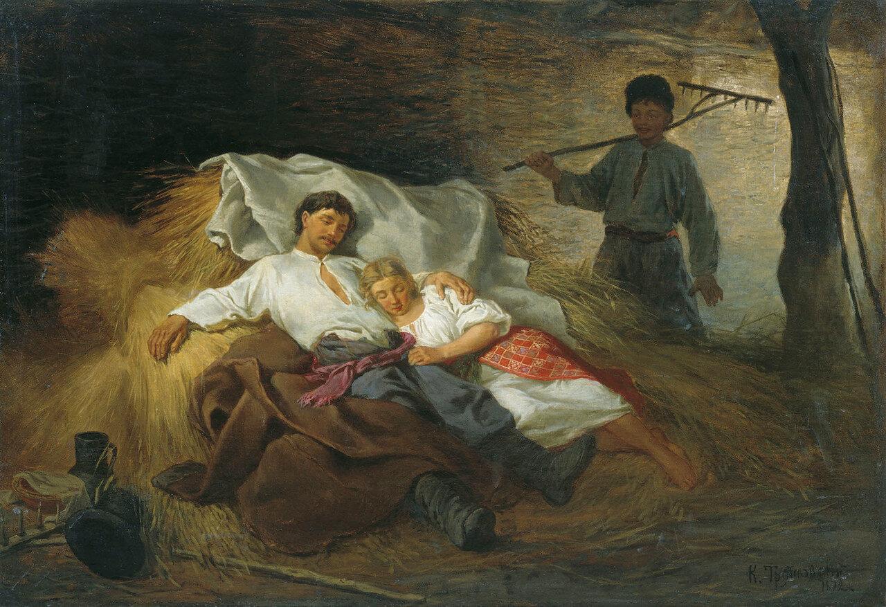 На сеновале. 1872. Холст, масло.jpg