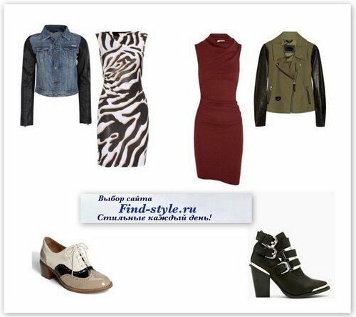с чем носить джинсовую куртку, с чем носить куртку с кожаными рукавами, платье с принтом, оксфорды, модная осенняя обувь