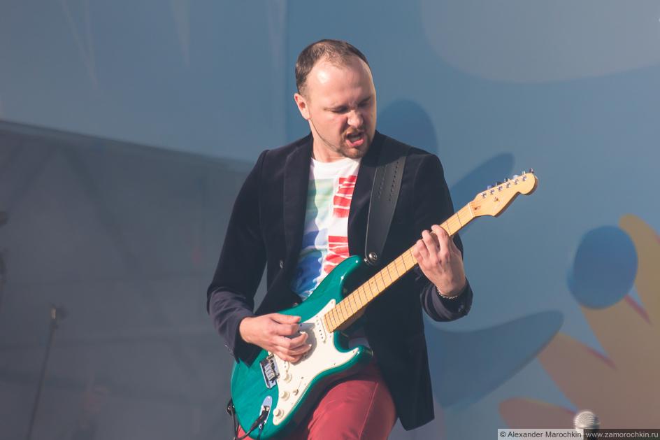 Гитарист группы October Sun на фестивале FIFA Fan Fest в Саранске
