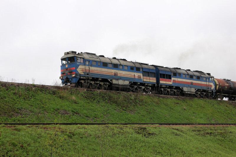 2ТЭ116-1710 на станции Ржев-Балтийский