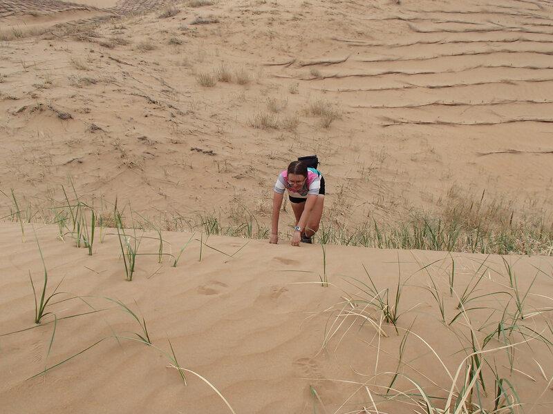 способ забраться на дюну на четвереньках