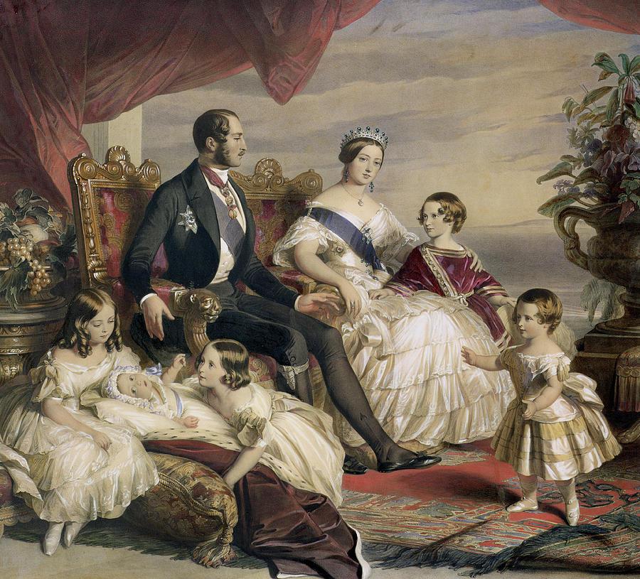 Королева Виктория и принц Альберт с детьми. Франц Ксавьер  Винтерхальтер