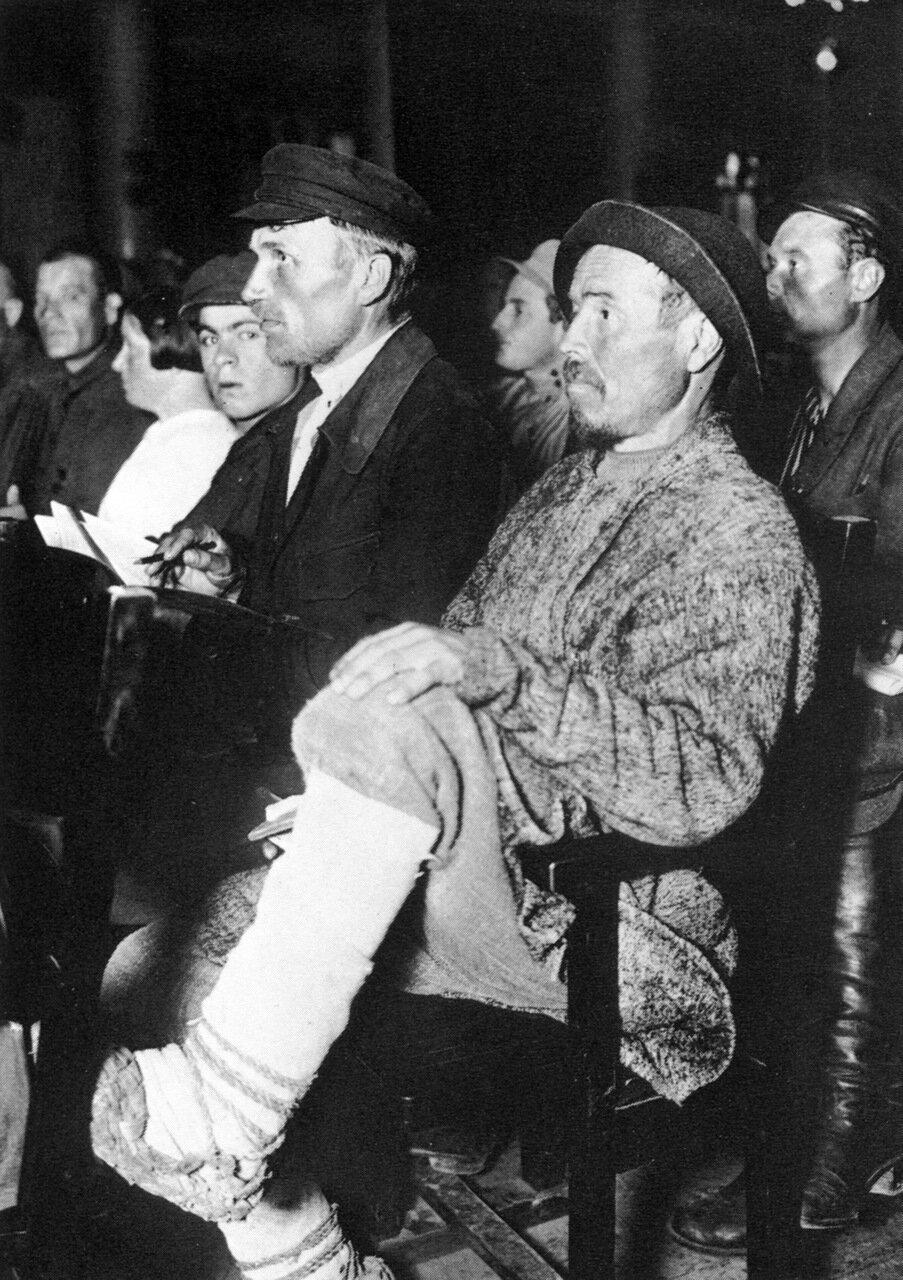 На встрече рабселькоров. 1928 год.
