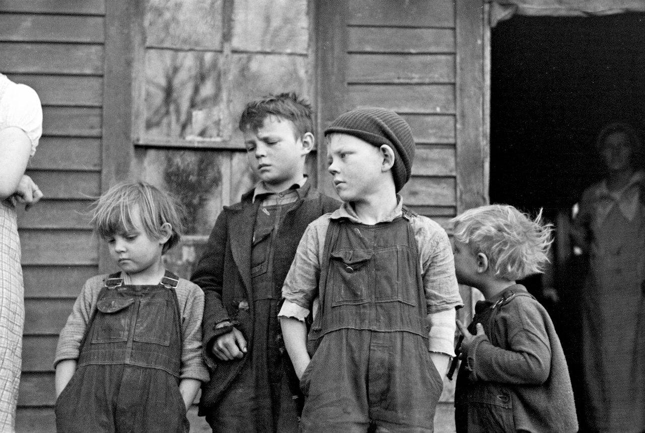 Дети Фрэнка Муди, Миллер Тауншип, округ Вудбери, Айова, 1936