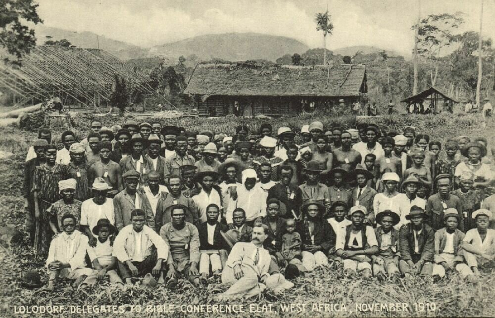 1910. Германская Западная Африка. Лолодорф. Делегаты Библейской конференции