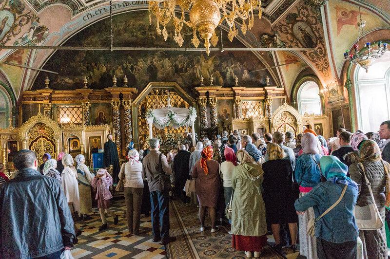 Успение Пресвятой Богородицы - служба в Сергиевом храме Троице-Сергиевой Лавры