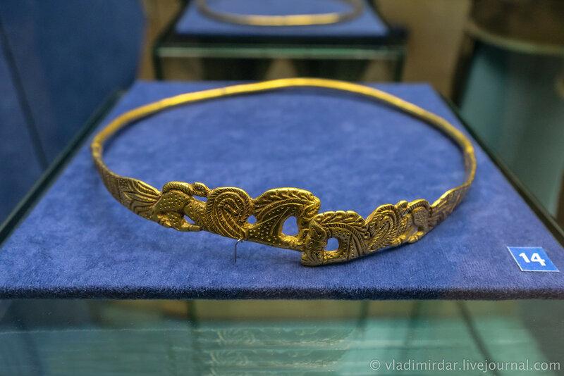 Гривна с изображением грифонов. Золото. II – I в. до н.э.