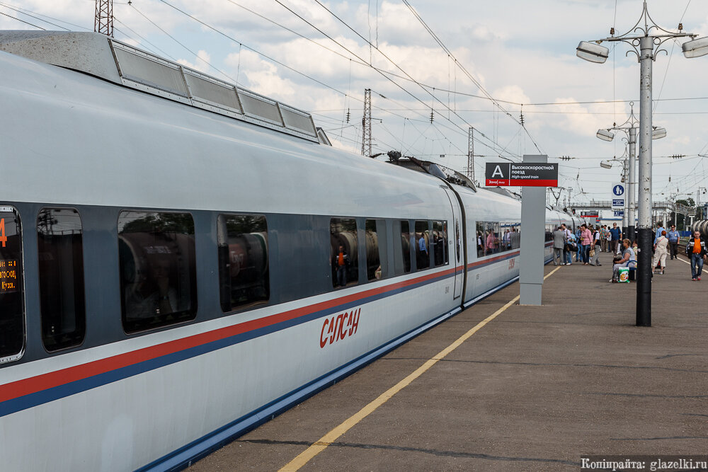 Платформа Дзержинск. Сапсан.