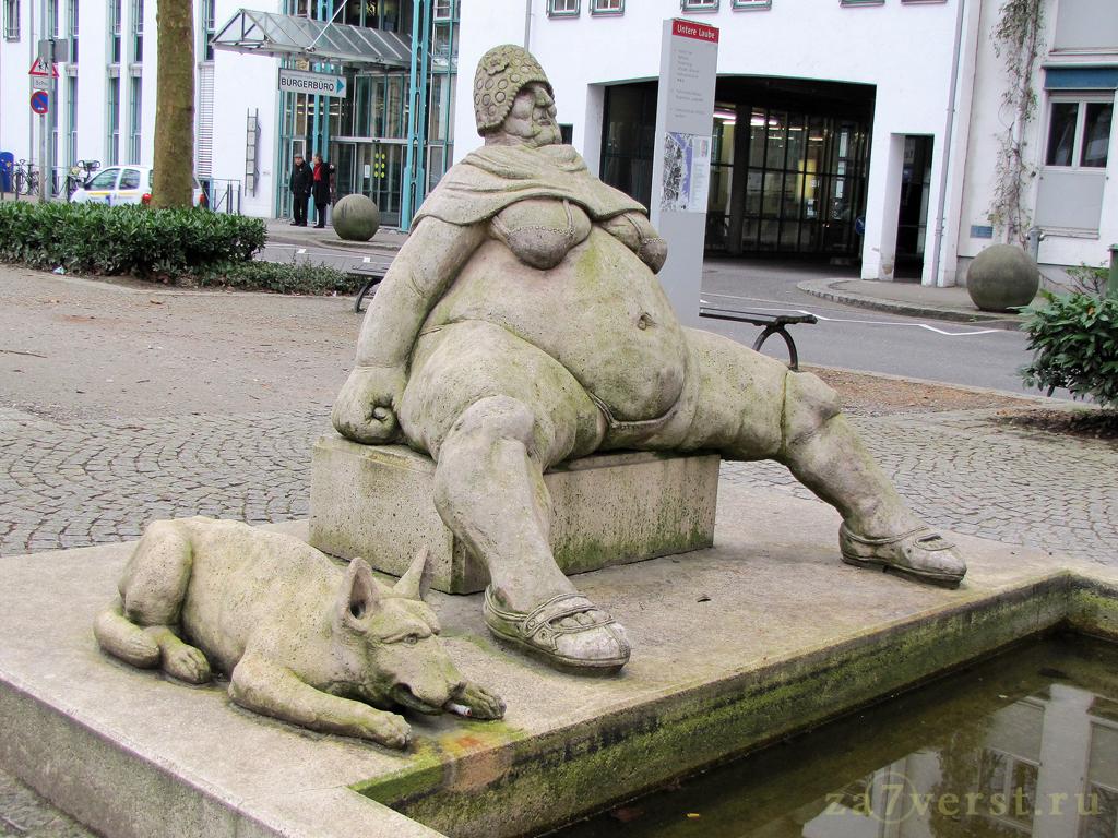 """Фонтан """"Триумфальная арка"""", Констанц, Германия"""