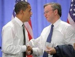 Obama mit Schmidt