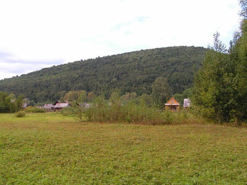 Вид на посёлок Точильный от ручья (04.07.2013)