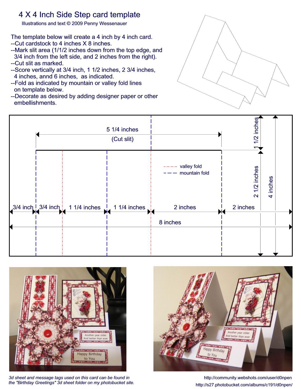 Шаблоны открыток сложной формы