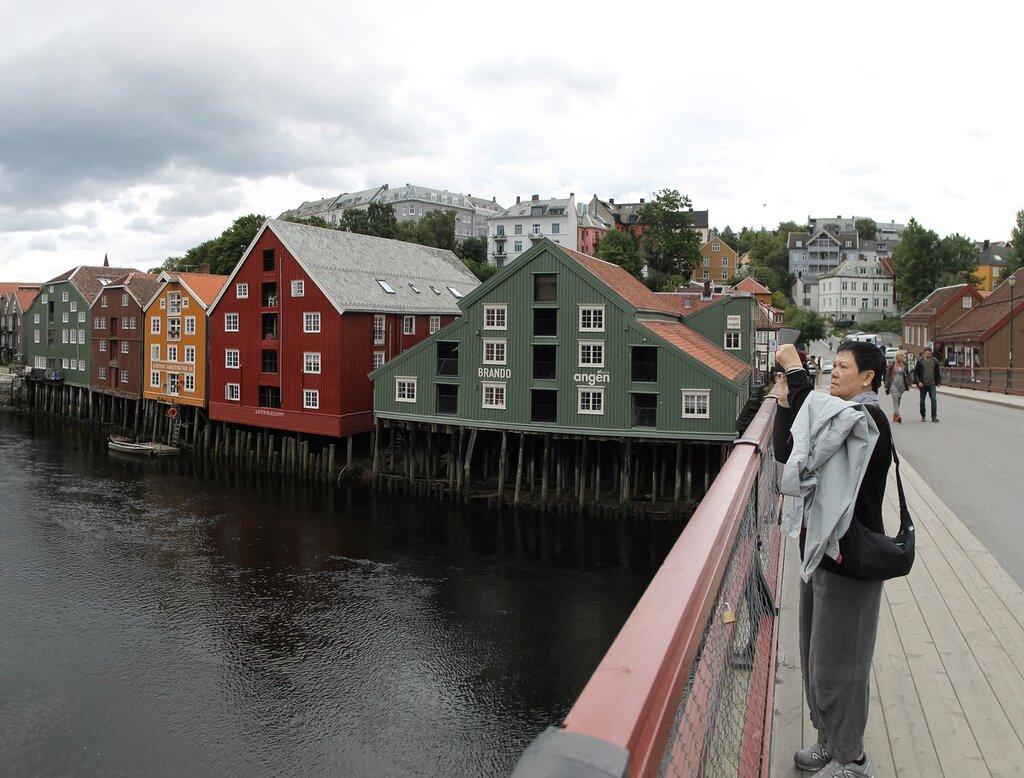 Trondheim. The old bridge (Gamle Bybrua)