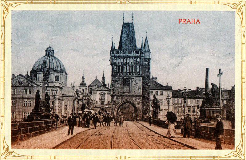 19. Староместская мостовая башня и Кржижовницкая площадь. 1911 год