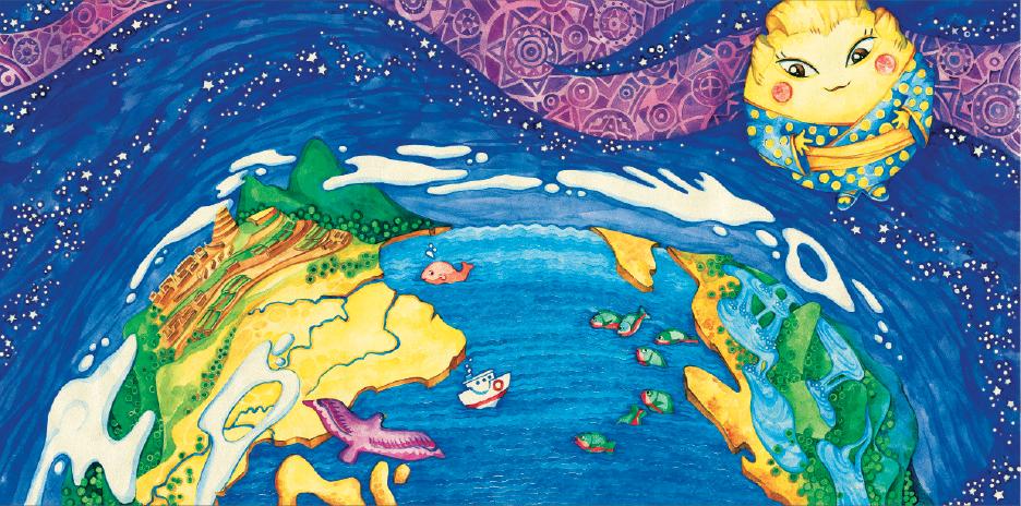 «Міс всесвіт», ілюстрація (С) Яна Семячко, 2013