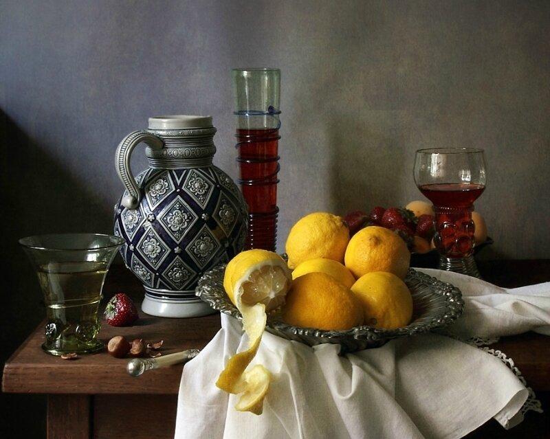 Вино и лимоны