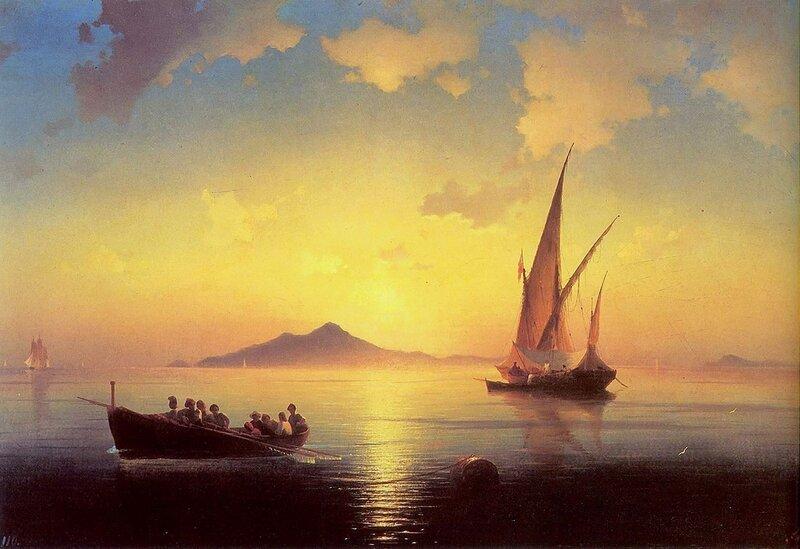 Неаполитанский залив. Айвазовский, картины русских художников