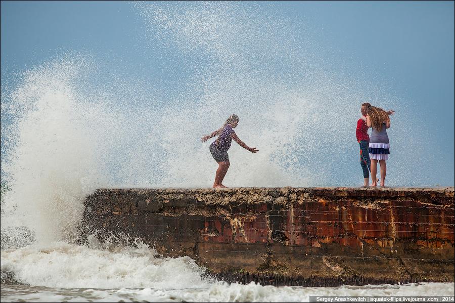 Дети и шторм