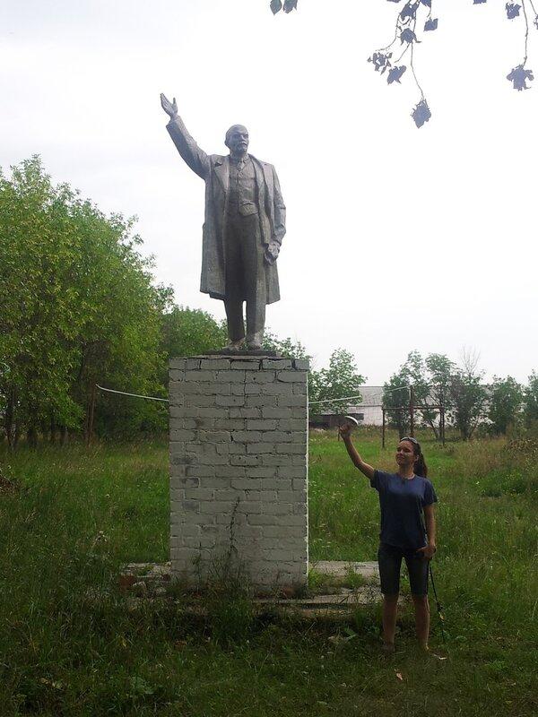 Памятник Ленину в деревне Мартынова