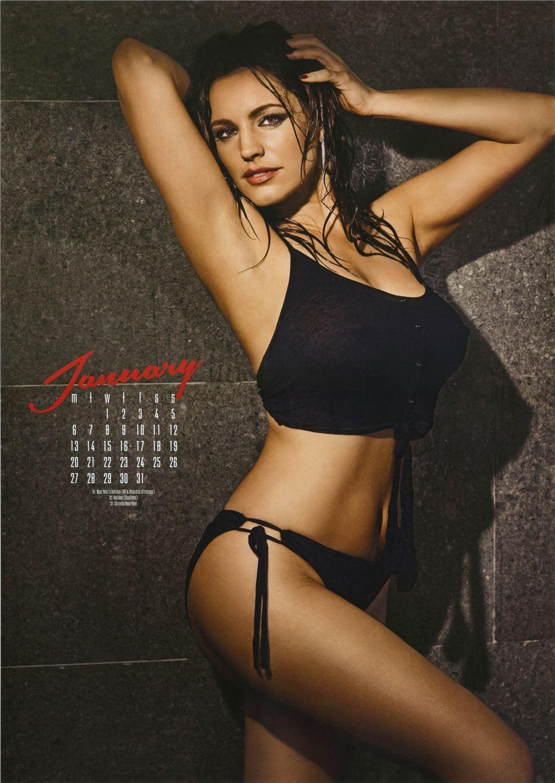 январь - Календарь сексуальной красотки, актрисы и модели Келли Брук / Kelly Brook - official calendar 2014
