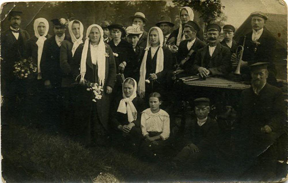 1920. Деревенские жители