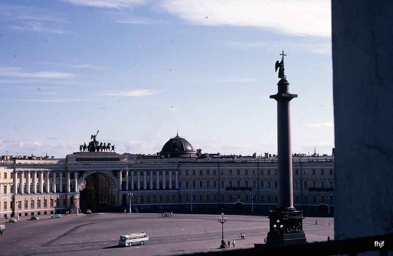 Alexander Column and Triumphal Arch from Hermitage