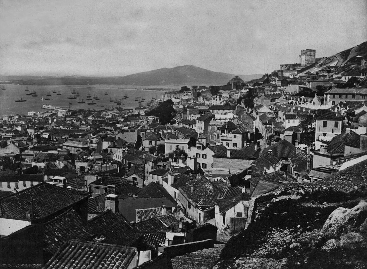 1850. Вид на город со скалы Кресло королевы Испании