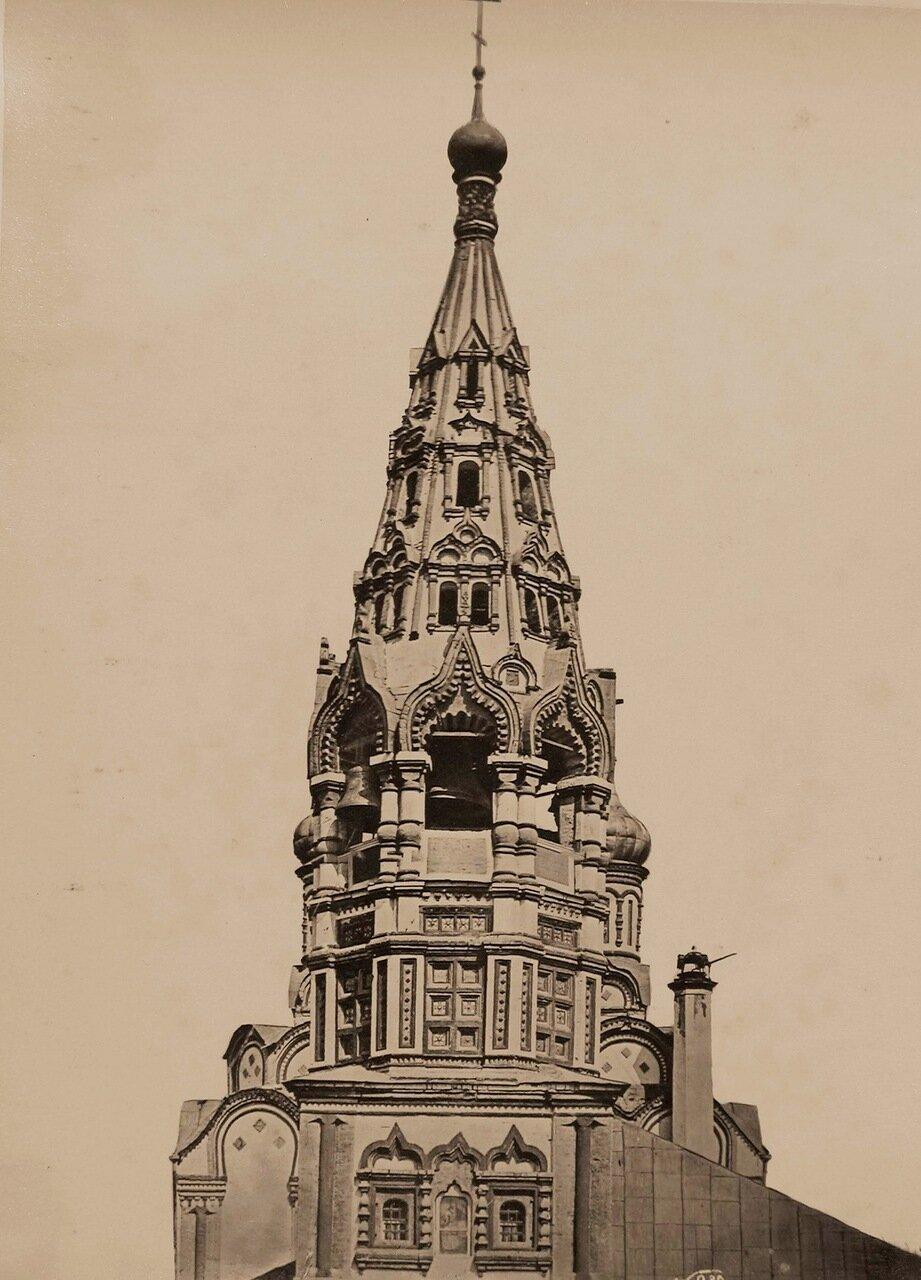 Вид верхней части колокольни церкви Николая Чудотворца в Хамовниках