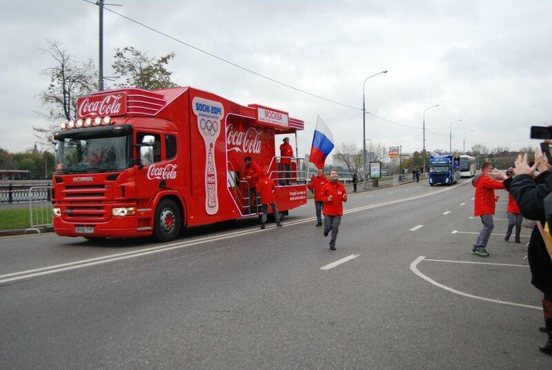 Олимпийский Огонь в Москве!