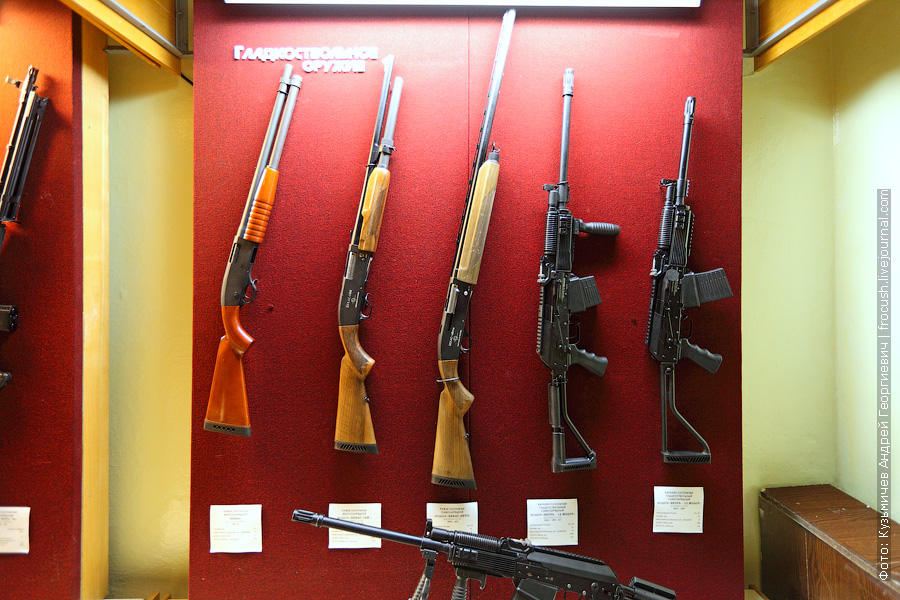 Ружье охотничье многозарядное «Бекас» РП-16, ружье охотничье многозарядное «Бекас-16М», ружье охотничье самозарядное «Бекас-авто» ВПО-201, карабин охотничий гладкоствольный самозарядный «Вепрь-12 Молот» ВПО-205-01 (длина ствола 520 мм), карабин охотничий гладкоствольный самозарядный «Вепрь-12 Молот» ВПО-205 (длина ствола 430 мм)