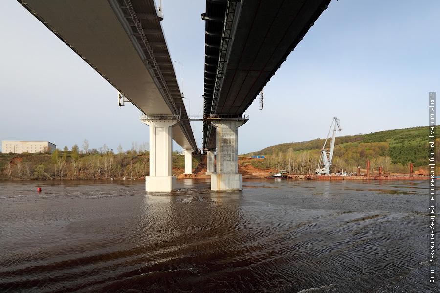 Автомобильный мост через Вятку в районе города Мамадыш