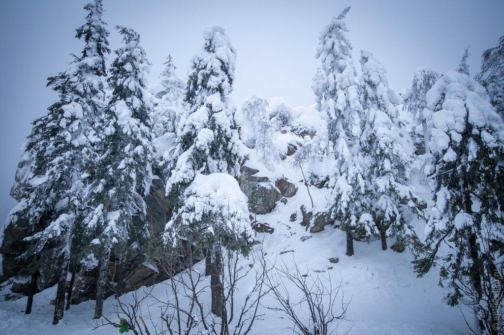 Златоуст. Черная скала - зима 2016