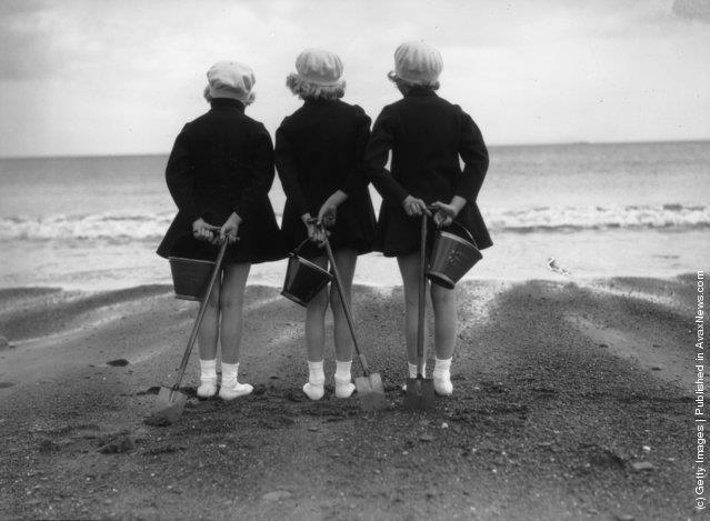 Ретро-пляжные фотографии