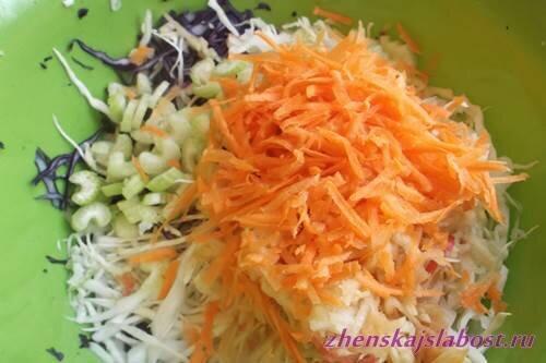 морковь на терке для салата из капусты