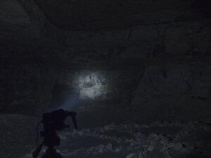 Фонарь Fenix HP25, в режиме рассееного света+сфокусированый свет, в минимальных режимах светит так