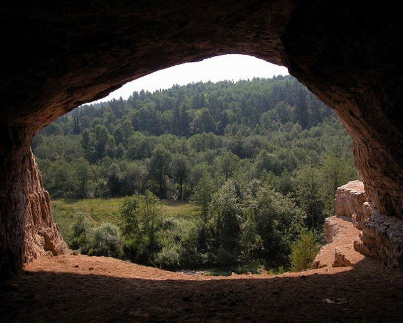 Вид из пещеры на закате (05.07.2013)