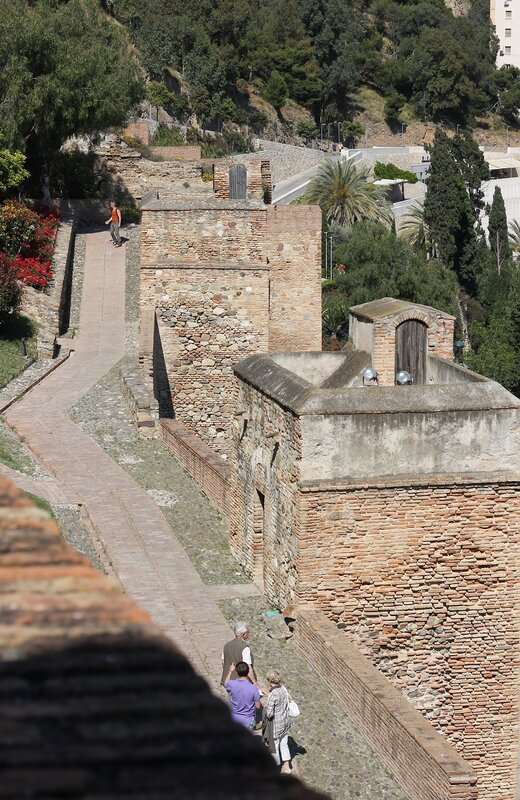 Малага. Вид из крепости Алькасаба