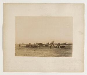 Лагерь переселенцев на реке Тура.