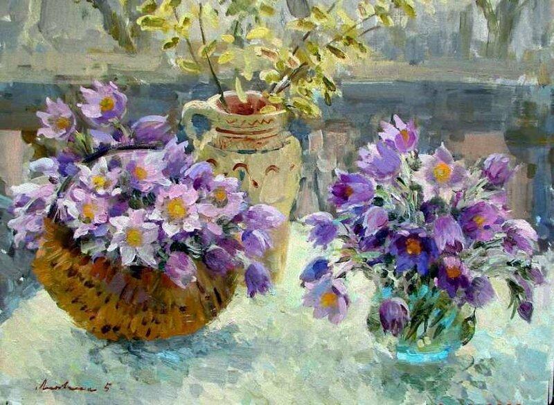 Б.Литовченко. Весенние цветы