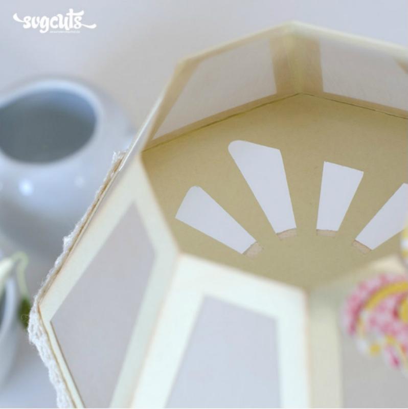 Бумажный светильник от svgcuts