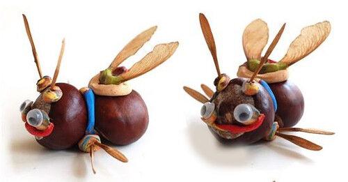 Игрушки из каштанов