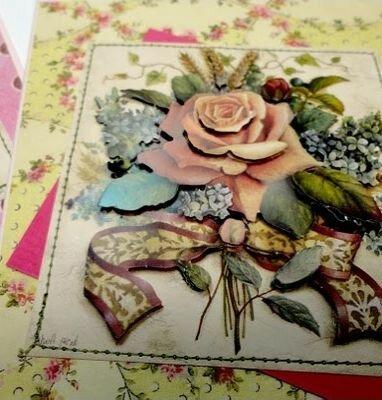 Объемные открытки с 3-Д декупажными картами