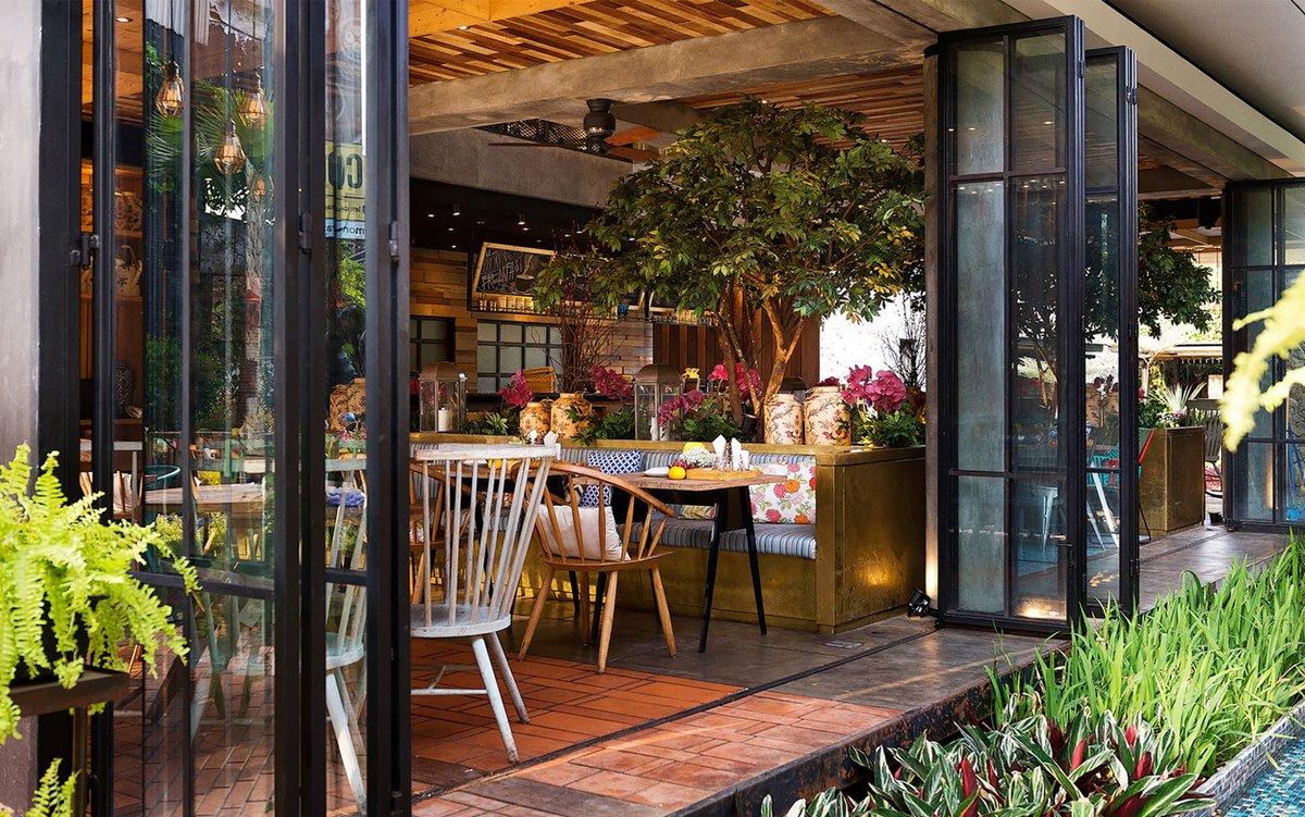Ресторан Lemongrass, дизайн интерьера бара ресторана, оригинальный интерьер ресторана, интерьеры ресторанов мира, ресторан в тропиках