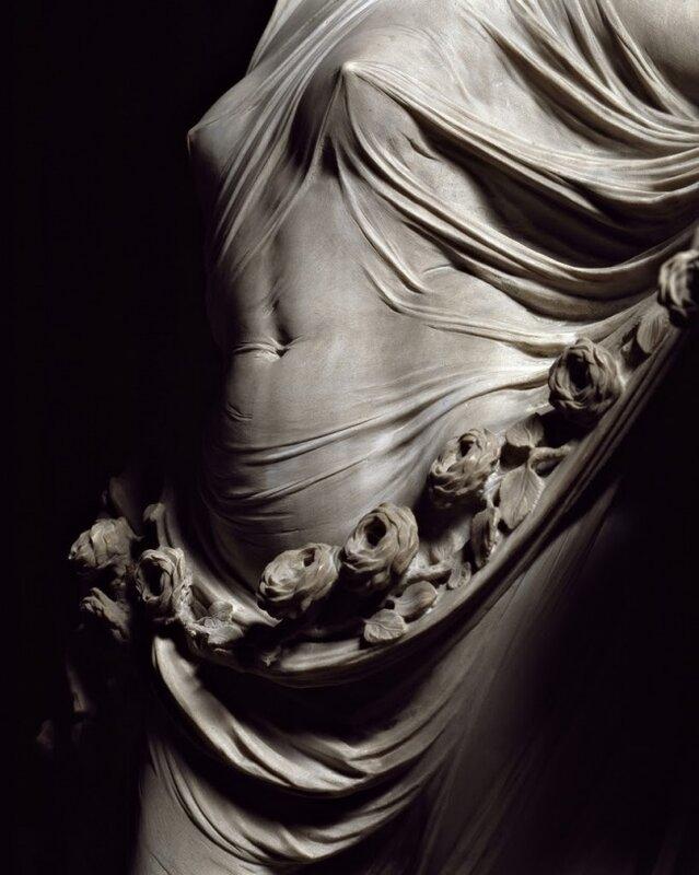 «Целомудрие» Антонио Коррадини. Мрамор. 1752 год. Капелла Сан-Северо в Неаполе. Фрагмент