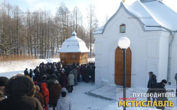 Крещение 2013: Пустынки. Свято-Успенский монастырь