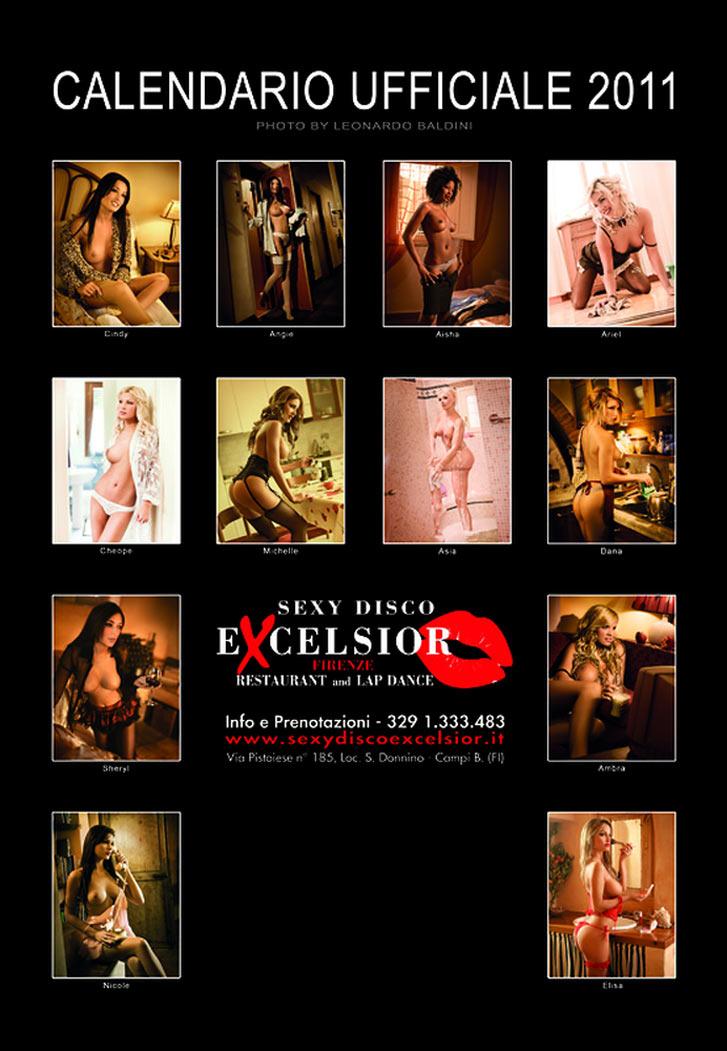 Сексуальные девушки в эротическом календаре ресторана Sexy Disco Excelsior на 2011 год