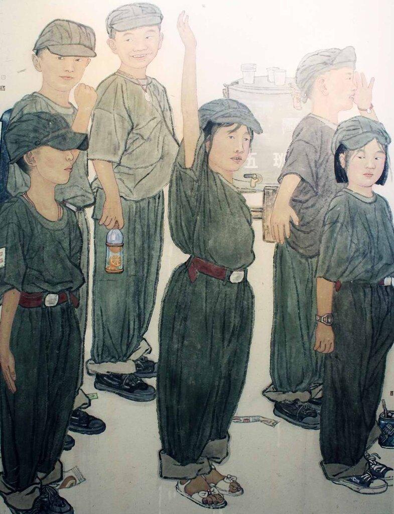 На занятиях по начальной военной подготовке (Zhou Zhengliang)