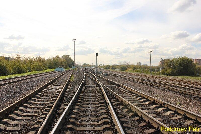 На путях станции Андроновка